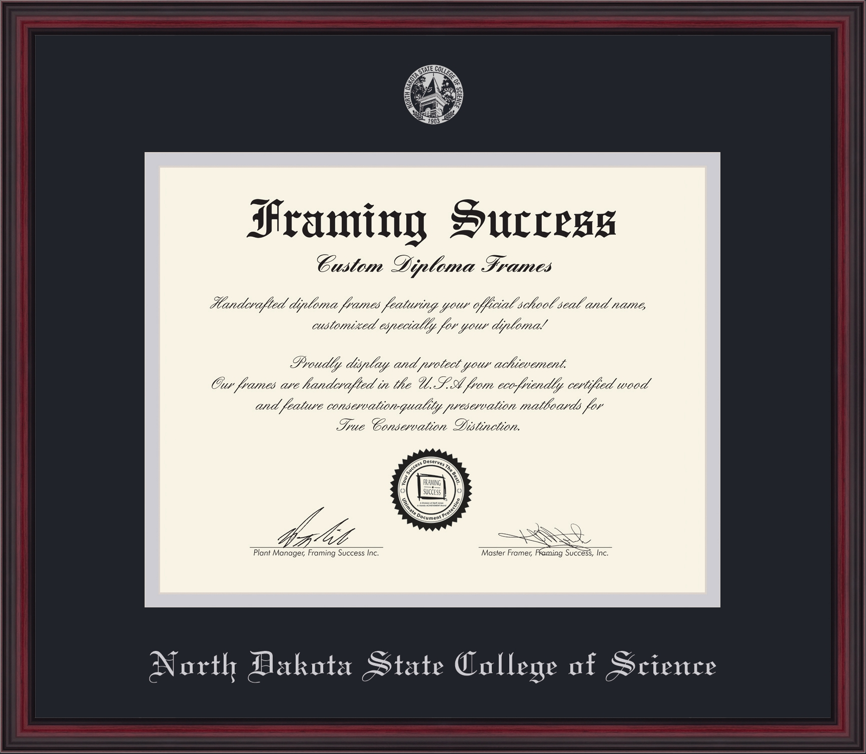 "Image For Diploma Frame - ""Athens"" Embossed Seal"