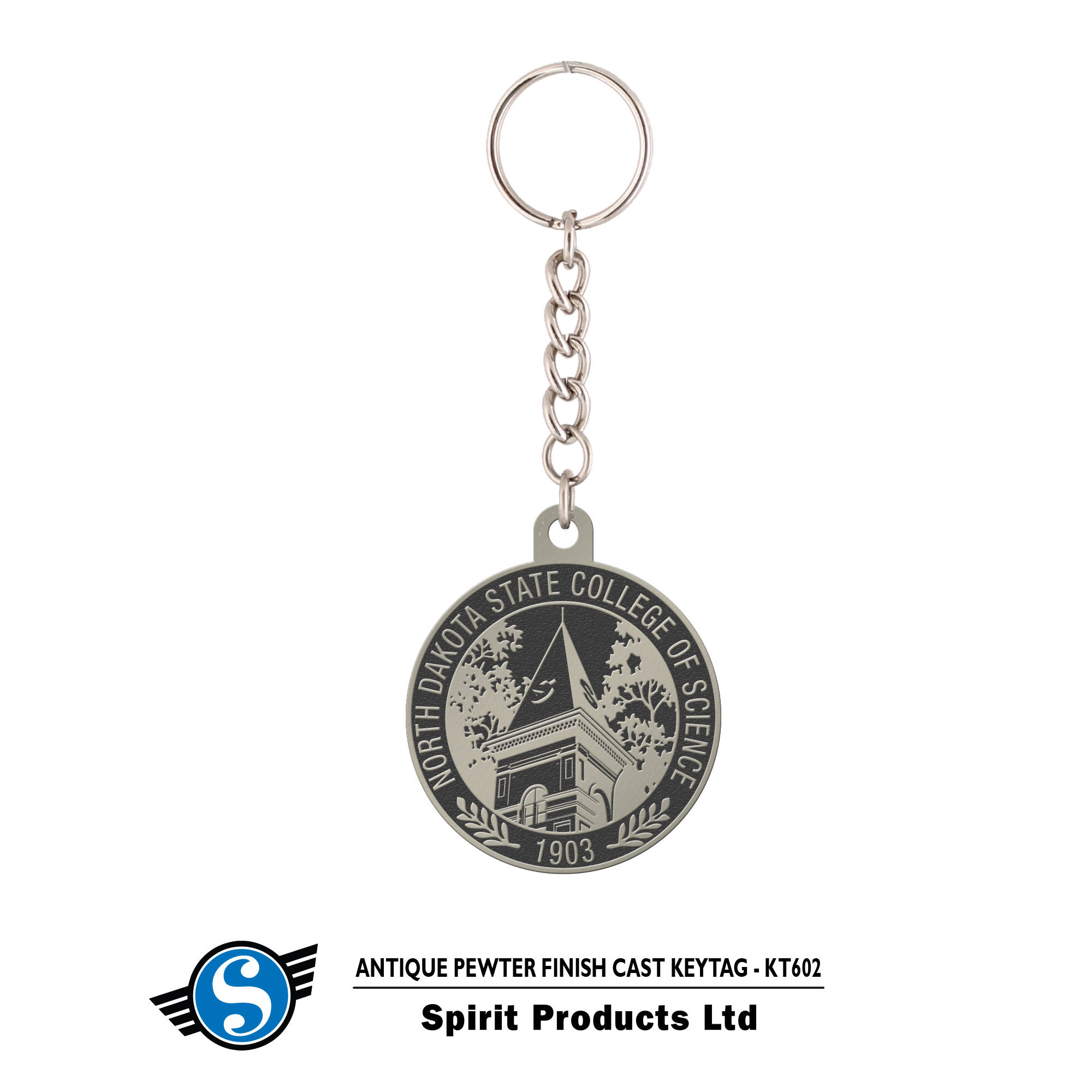Image For Pewter Key Tag